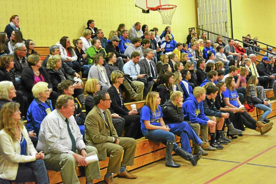 Winsted parents and students alike came out to support the Gilbert School. Photo: Ryan Flynn — Register Citizen