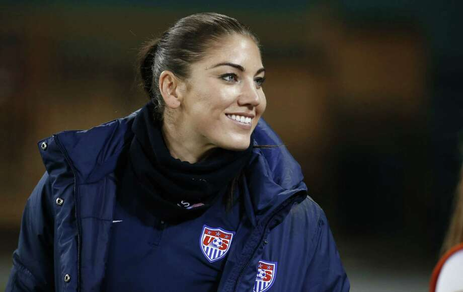 Goalkeeper Hope Solo and the United States reached the final of the Algarve Cup. Photo: Alex Brandon — The Associated Press File Photo  / AP