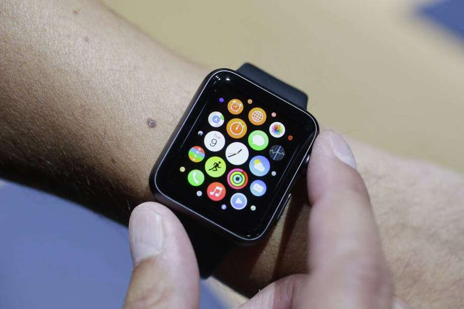 In this Sept. 9, 2014 photo, the new Apple Watch is modeled during a media event in Cupertino, Calif. Photo: AP Photo/Marcio Jose Sanchez, File  / AP