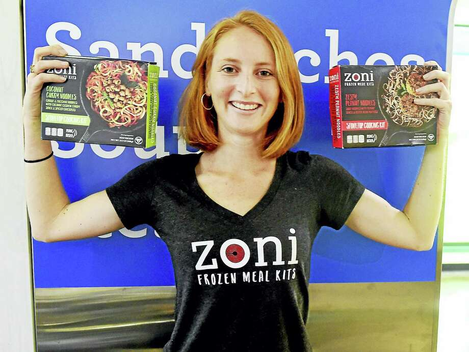 Zoe Lloyd, a Yale University graduate and co-founder of Zoni Frozen Meal Kits along with Nilofer Ahmed. Photo: Peter Hvizdak / Hearst Connecticut Media / New Haven Register