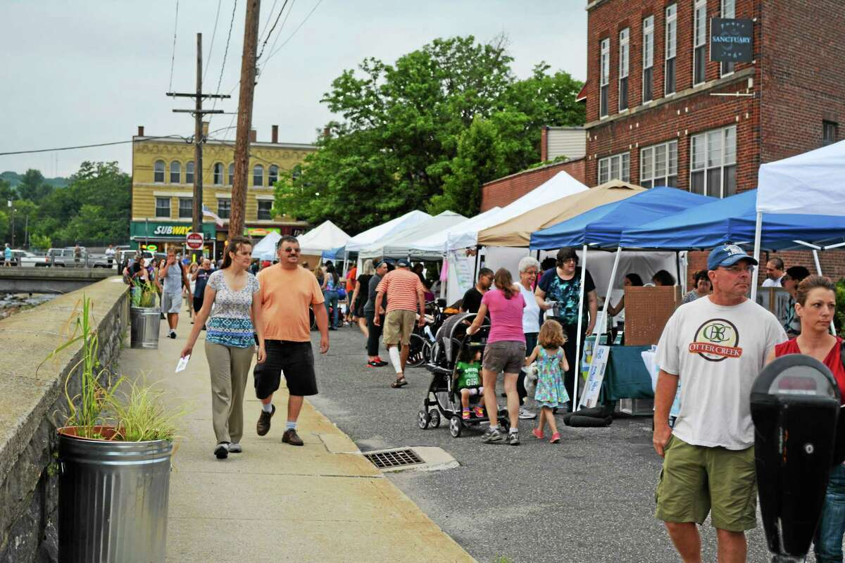 The first night of the season of The Marketplace was held Thursday at its new location on Franklin Street in Torrington.
