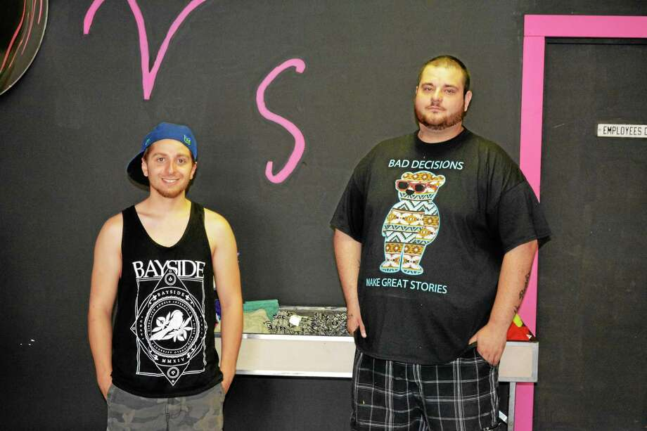Dylan Stewart and Joshua Veilleux, who recently opened V.S., a clothing store at 169 East Main St. in Torrington. Photo: Ben Lambert — The Register Citizen