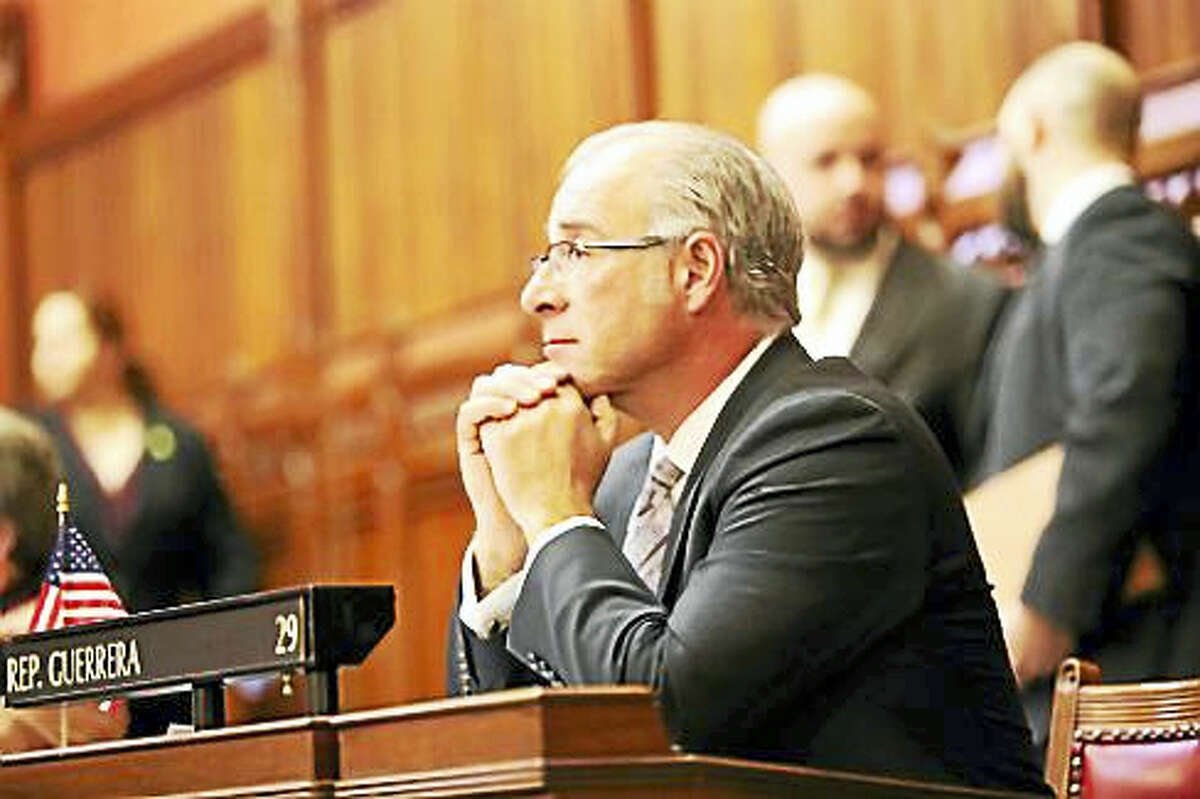 State Rep. Antonio Guerrera, D-29, in December 2015 listening to the lockbox debate.