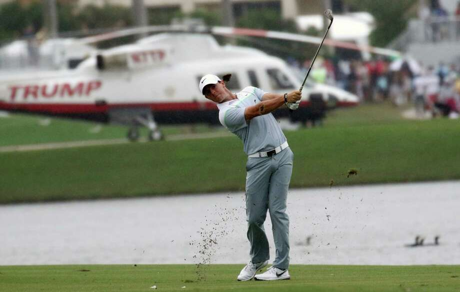 Rory McIlroy hits from the ninth fairway during the final round of the Cadillac Championship. Photo: The Associated Press  / AP