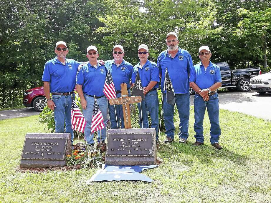 Contributed photos Members of Charlie Company 2nd 506th Infantry BN 101st Airborne Division who served in Vietnam in 1970-71, are traveling the midwest to honor their fellow company members. Robert Zoller II was remembered by the group in this photo. Photo: Journal Register Co.