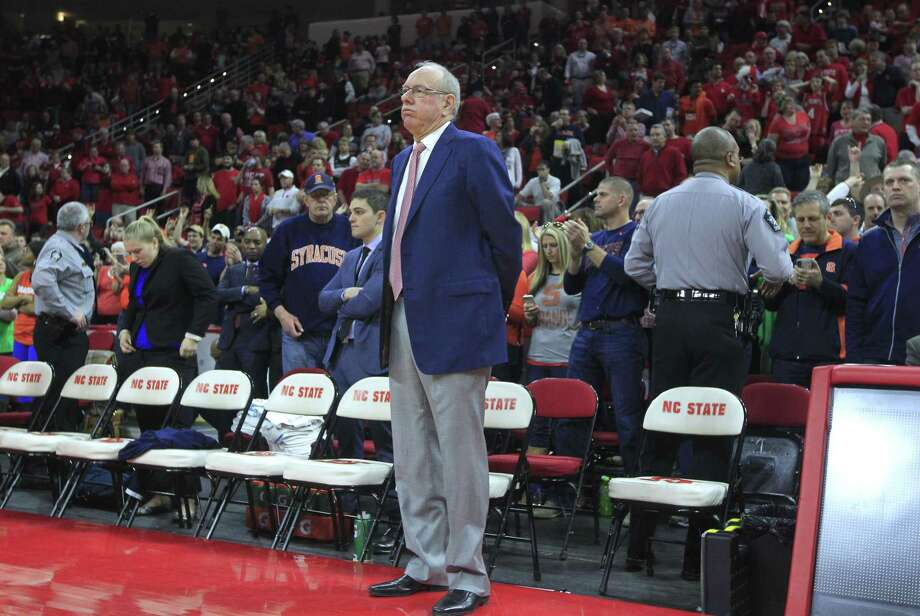 Register sports columnist Chip Malafronte thinks we may have been naive to assume Syracuse men's basketball coach Jim Boeheim ran a clean program all these years. It makes you wonder if any coach is above reproach. Photo: Ethan Hyman — The News & Observer  / The News & Observer