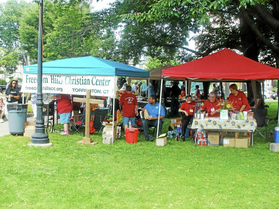 Sunshine and clear skies kicked off the 10th annual Praise God Festival at Coe Park in Torrington on Saturday, July 10, 2015, allowing anyone to come out and listen to Christian music while uniting in their faith. Photo: Stephen Underwood - Register Citizen