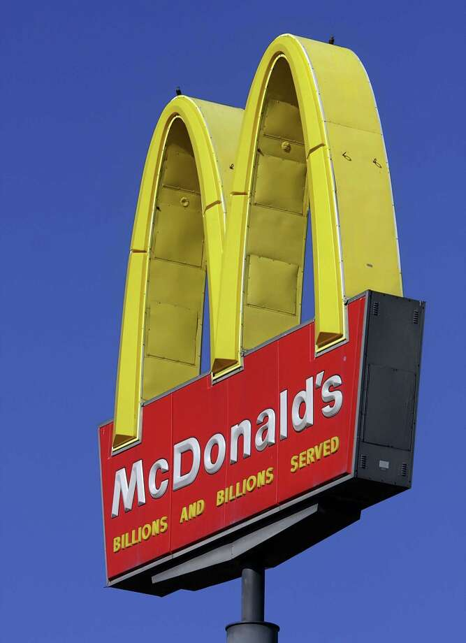 This Oct 21, 2008, file photo, shows a McDonald's logo at a McDonald's restaurant in Springfield, Ill. Photo: AP File Photo  / AP2008