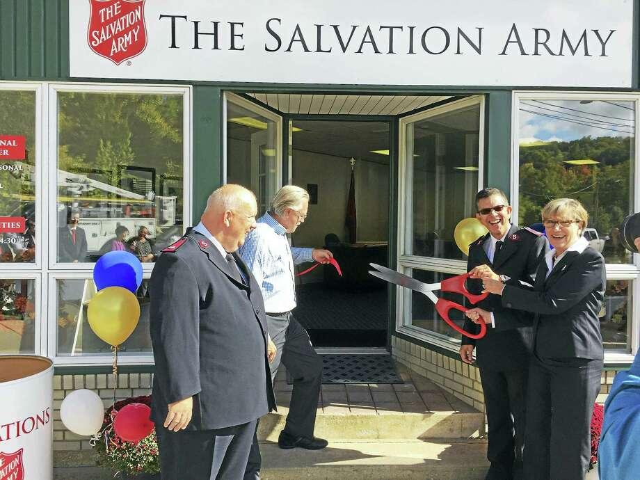 Ben Lambert - The Register CitizenThe Salvation Army and Winchester officials celebrated the opening of a new Regional Service Center at 716 Main Street Monday morning. Photo: Journal Register Co.