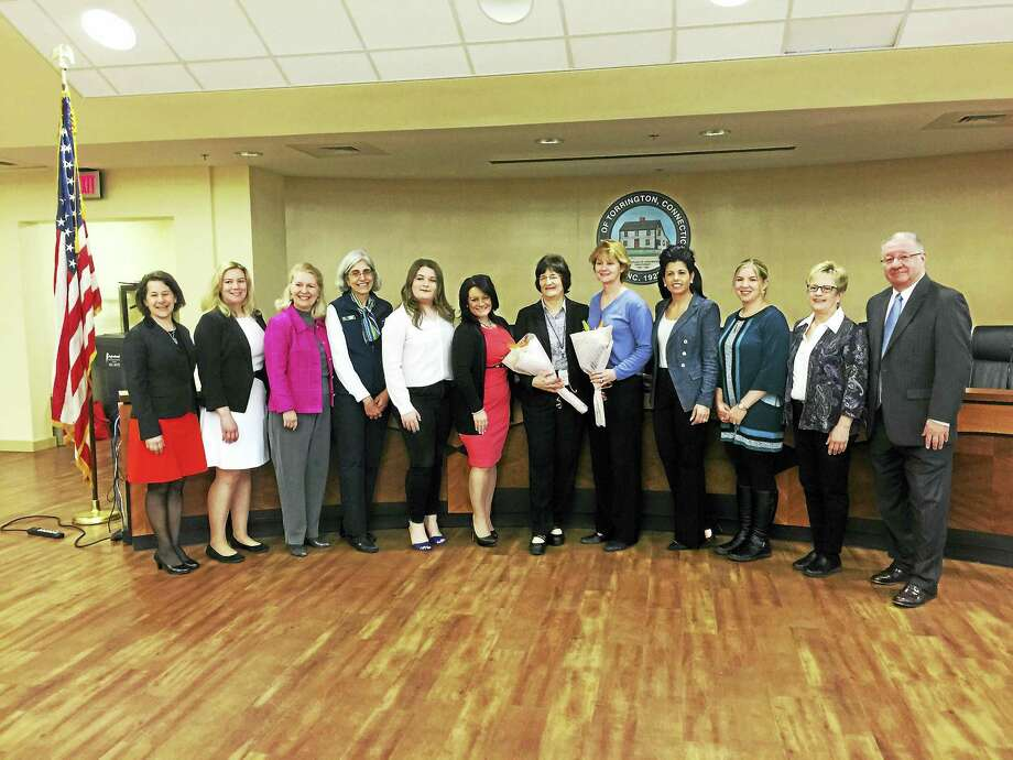 The Woman's Leadership Initiative of the United Way announced its Woman of the Year and Best Supporting Group at City Hall on Monday. Photo: Contributed Photo