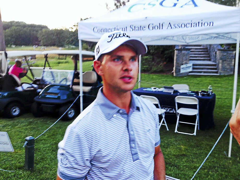 Joe Morelli/RegisterCody Paladino leads by two shots heading into the final round of the 82nd Connecticut Open. Photo: Journal Register Co.