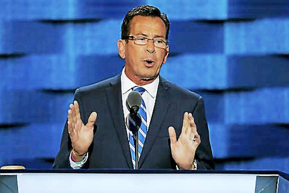 Connecticut Gov. Dannel Malloy speaks during the first day of the Democratic National Convention in Philadelphia , Monday, July 25, 2016. Photo: AP Photo/J. Scott Applewhite   / Copyright 2016 The Associated Press. All rights reserved. This material may not be published, broadcast, rewritten or redistribu