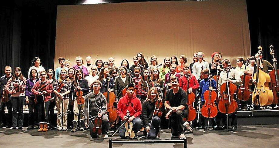 Students from 11 Litchfield County towns joined together with Waterbury Symphony Orchestra for a series of concerts, including two for Torrington students. Photo: Submitted Photos