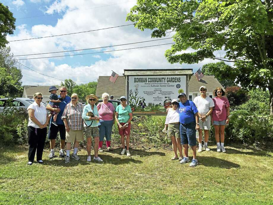 Ben Lambert - The Register CitizenThe Bowman Community Gardens were celebrated and re-dedicated Tuesday morning in Torrington. Photo: Journal Register Co.