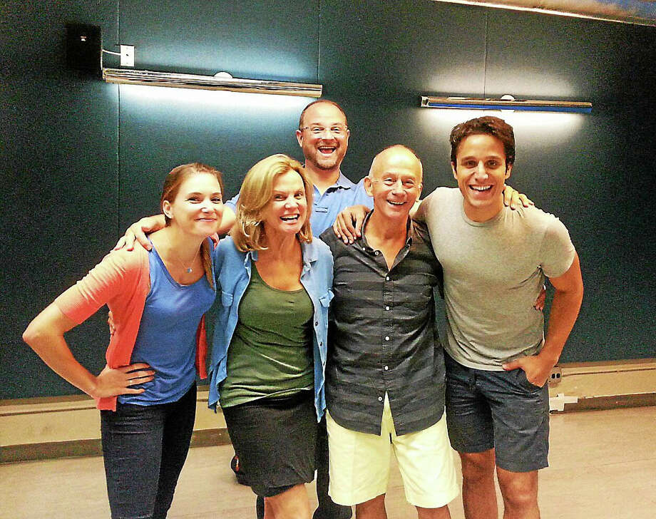 """Playwright Joe Godfrey was recently pictured during a rehearsal with the cast and director of his new play, """"Romance Language."""" Photo: Contributed Photo"""
