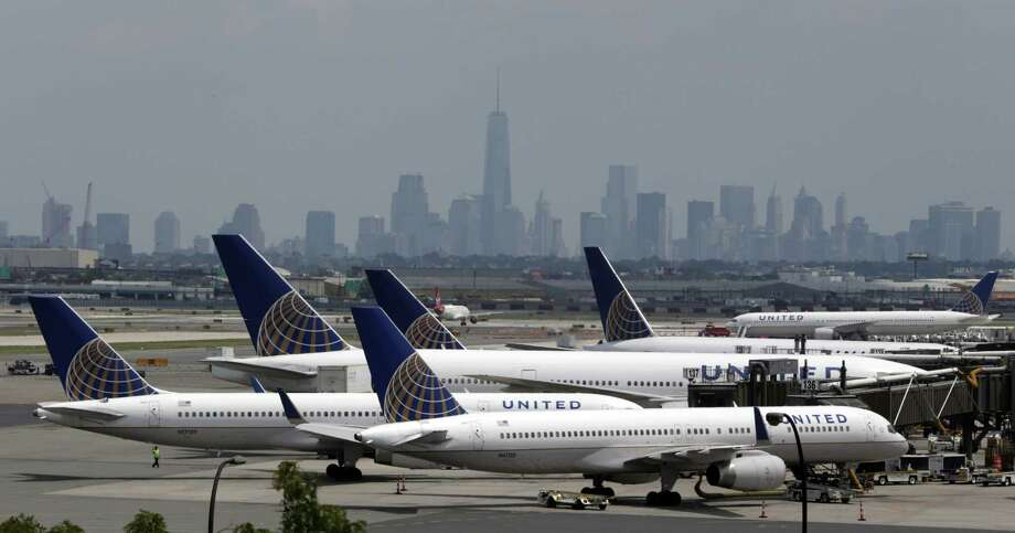 In this July 2014 file photo, United Airlines jets are parked on the tarmac at Newark Liberty International Airport, in Newark, N.J. Photo: Associated Press  / AP