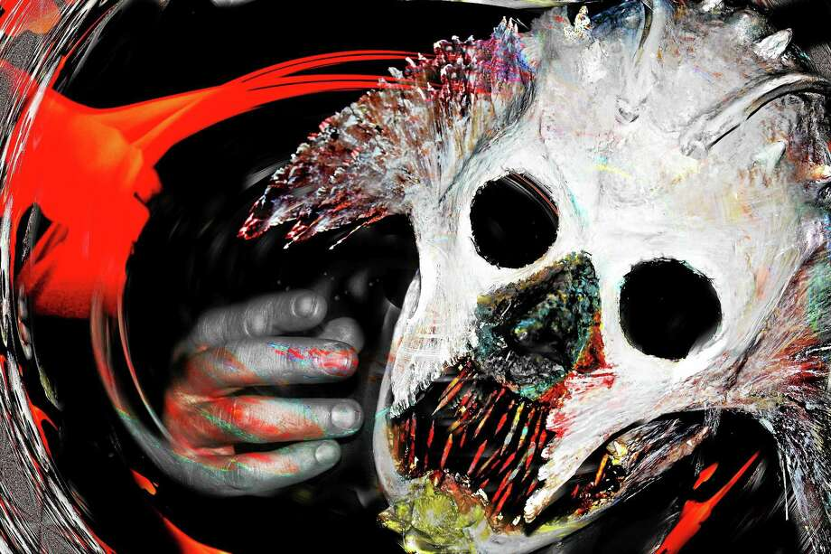 Contributed photos Halloween Snow Demon - mask, by Paul Clough. Photo: Journal Register Co.