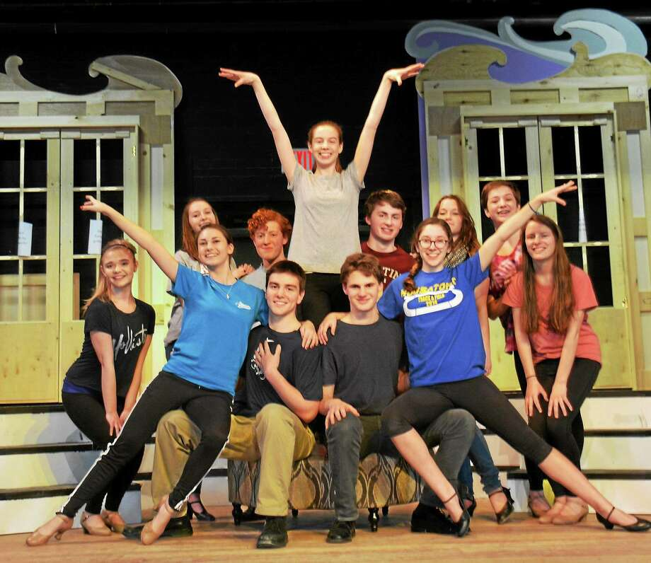 "Contributed photos The cast of ""The Boy Friend"" rehearses at Housatonic Valley Regional High School. Photo: Journal Register Co."