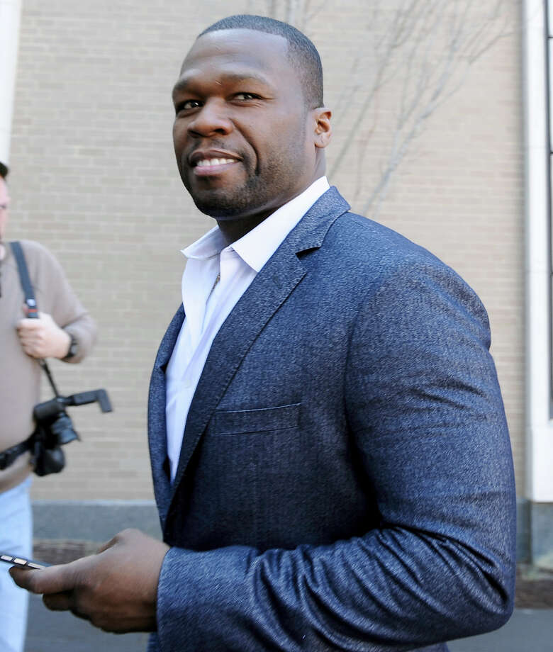 """Curtis """"50 Cent"""" Jackson arrives at court for a federal bankruptcy hearing Wednesday in Hartford. Photo: Associated Press  / AP2016"""