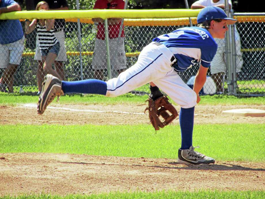 Burlington's Grady Lacourciere gave up just four hits in his three innings on Saturday while Wallingford's Kyle Mitchell gave up just one. Photo: Photo By Peter Wallace