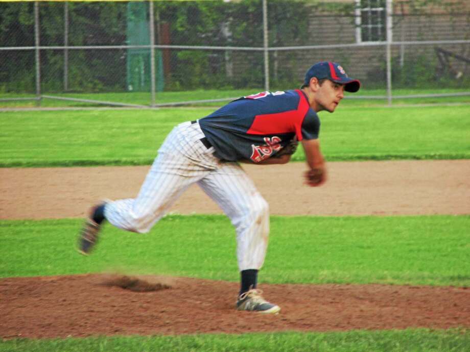 Torrington's Josh Rubino gave up just three hits in five innings of relief work Monday evening in a Sports Palace loss to Waterbury. Photo: PETER WALLACE — REGISTER CITIZEN
