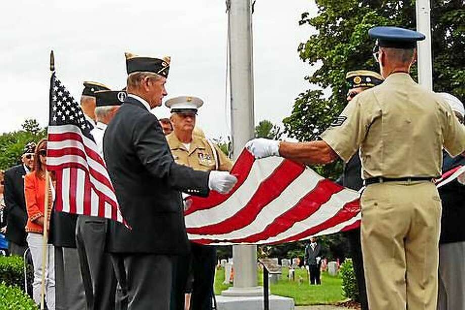 American Legion Post 44 of Bantam held its 319th consecutive Veteran of the Month ceremony on Saturday, July 4, honoring U.S. Army Cpl. William John Layman. Photo: Contributed Photo  / Copyright 2014