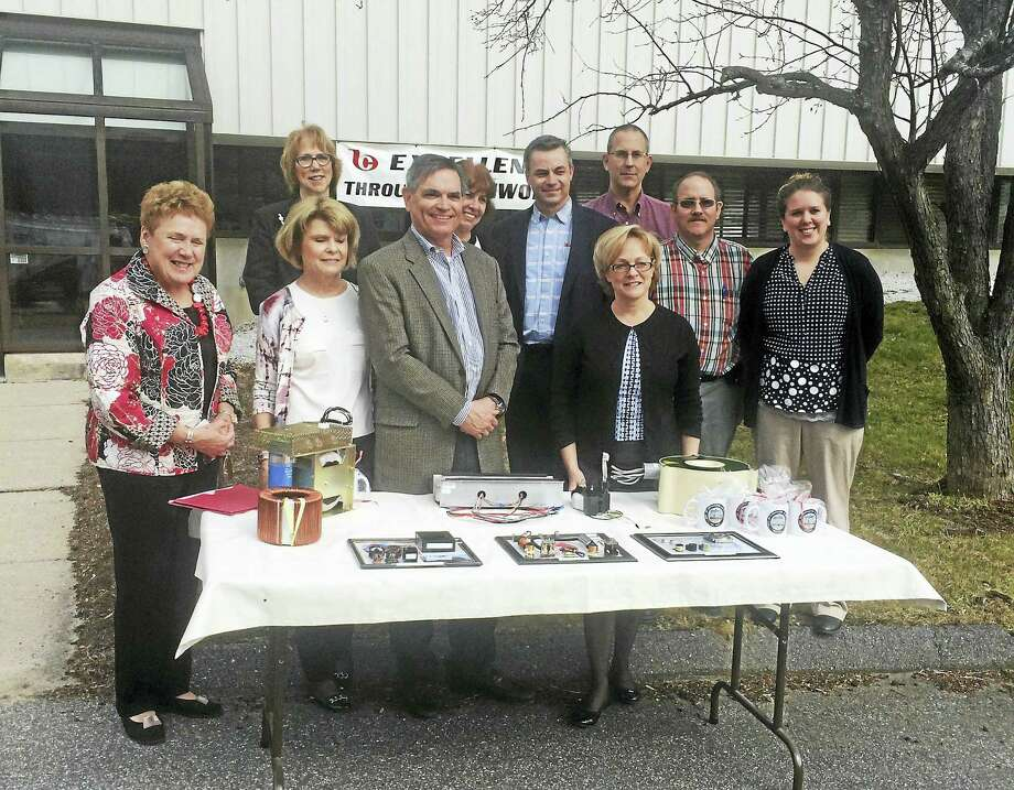 Noelia Ortiz - The Register CitizenOfficials met Tuesday at 427 Goshen Road to announce that Bicron Electronics is moving into the city. Photo: Journal Register Co.
