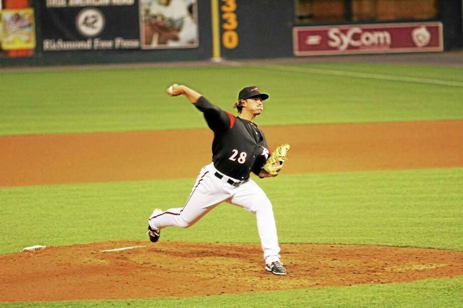 Wallingford's Tyler Mizenko is 3-1 with a 2.05 ERA as a late-inning reliever for the Double-A Richmond Flying Squirrels. Photo: Photo Courtesy Of Richmond Flying Squirrels  / Real_Life_Events