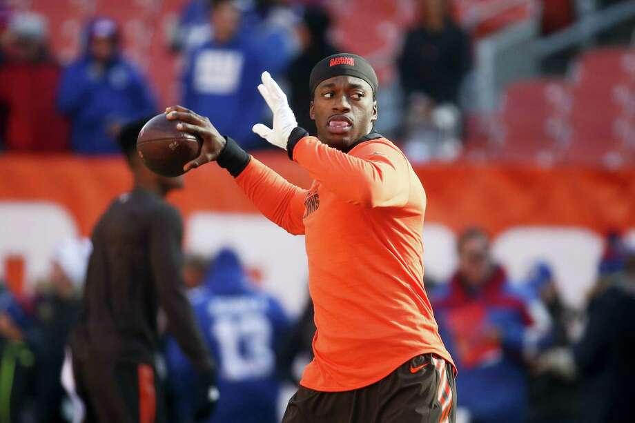 Cleveland Browns quarterback Robert Griffin III. Photo: Ron Schwane — The Associated Press  / AP