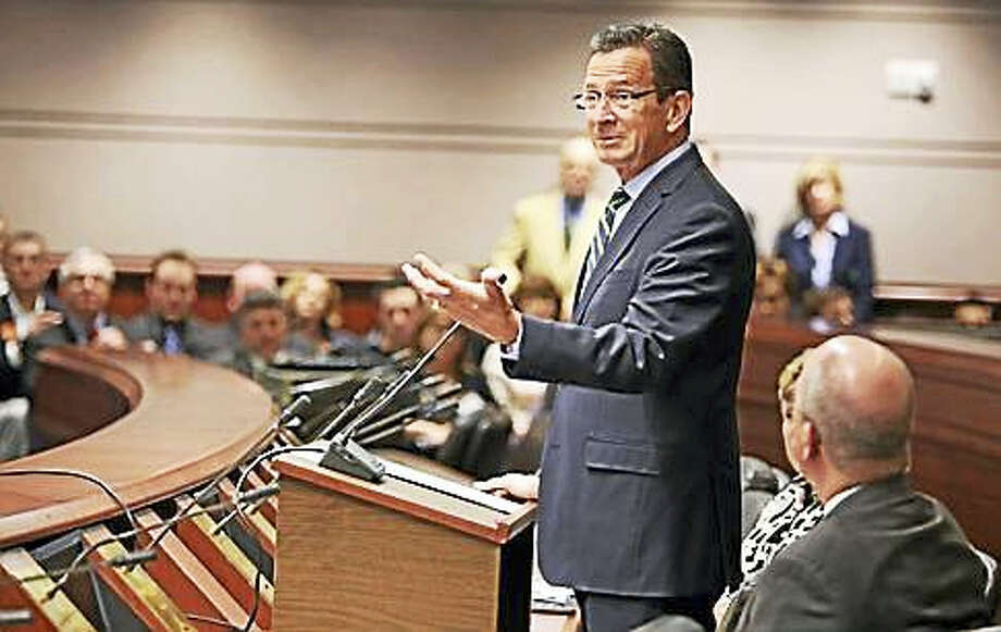 Gov. Dannel P. Malloy talks to the business community Wednesday, March 9, 2016. Photo: Christine Stuart — CT News Junkie