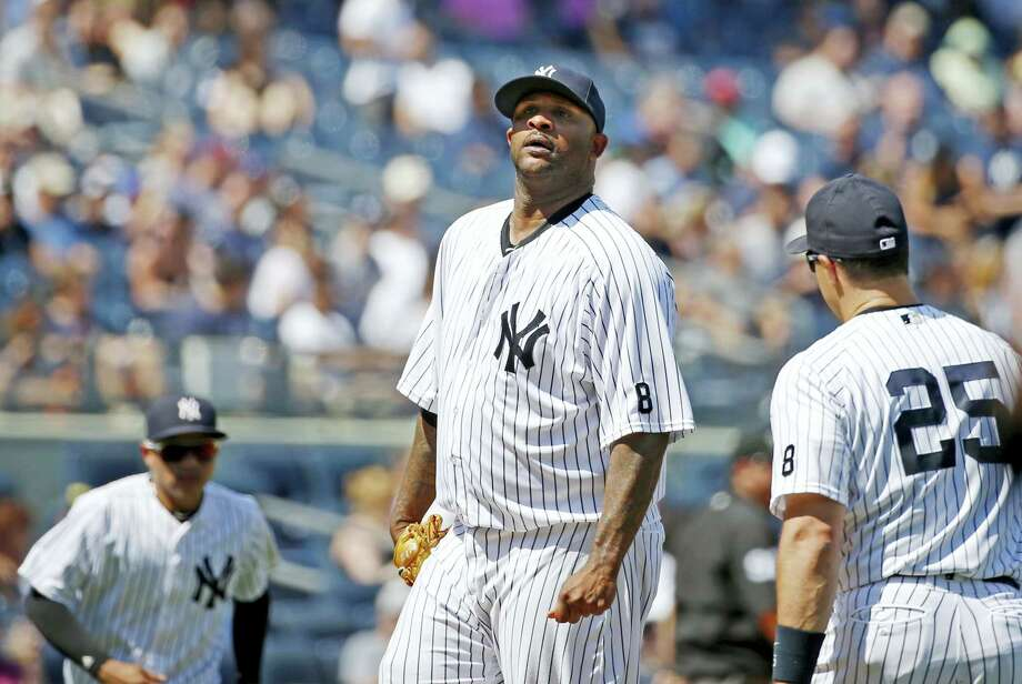 New York Yankees starting pitcher CC Sabathia reacts during Thursday's loss to the Orioles. Photo: Kathy Willens — The Associated Press  / AP