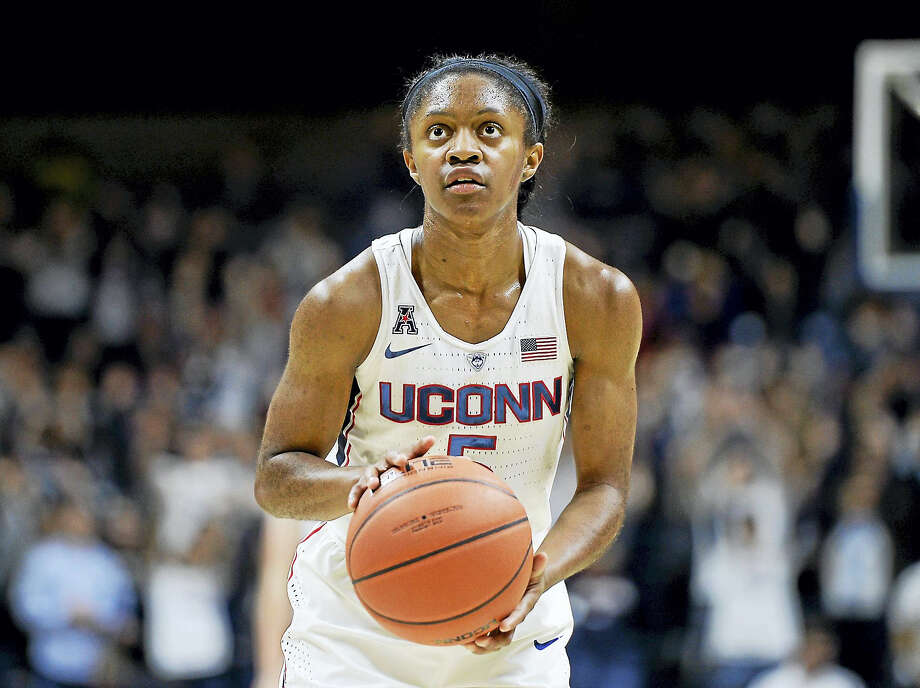 Crystal Dangerfield will miss UConn's game against Chattanooga on Tuesday with concussion-like symptoms. Photo: The Associated Press File Photo  / AP2016
