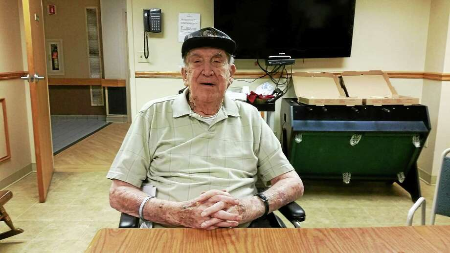 Sgt. William Linden turned 102 on Wednesday and will celebrate with his family on Saturday. Photo: Amanda Webster — The Register Citizen