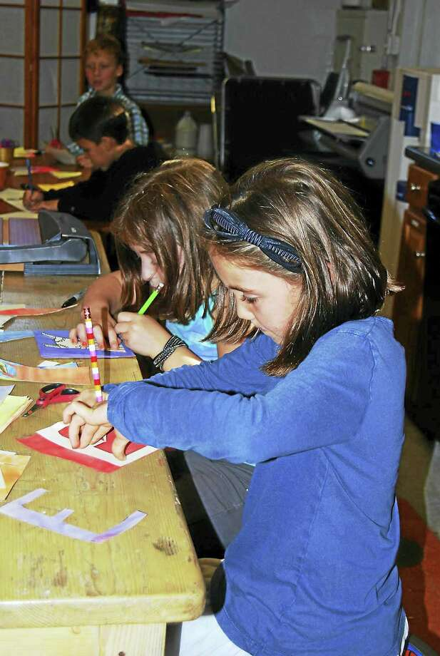 Contributed photo Montessori School students will have their artwork displayed in January at the Oliver Wolcott Library in Litchfield. Photo: Journal Register Co.