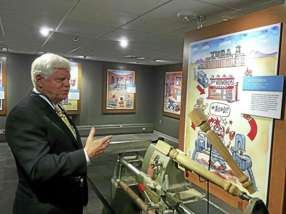 Ben Lambert - The Register Citizen  U.S. Representative John Larson speaks during his tour of the American Museum of Tort Law Wednesday in Winsted. Photo: Journal Register Co.