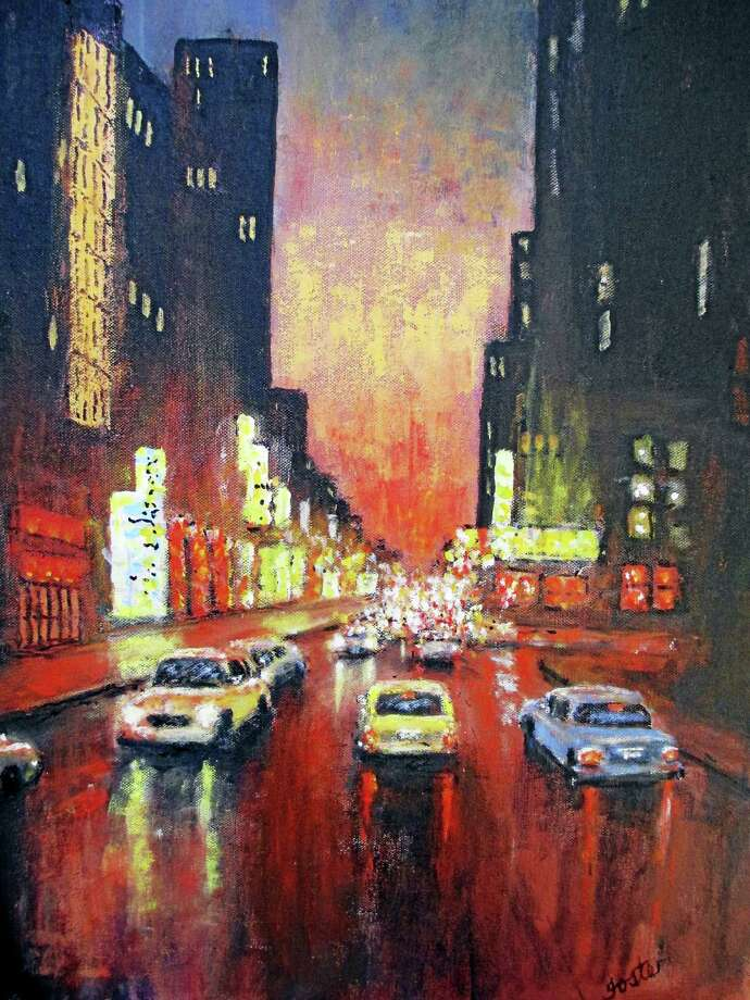 Contributed photoCity Lights, a painting by Ben Foster. Photo: Journal Register Co.