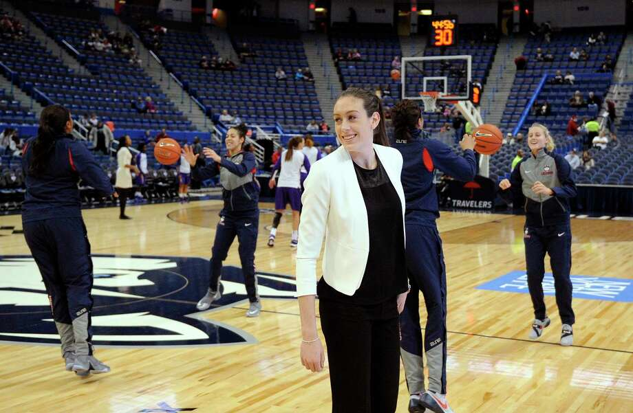 UConn's Breanna Stewart is expected to be back in the lineup for Monday's game against Maryland. Photo: Fred Beckham — The Associated Press  / FR153656 AP