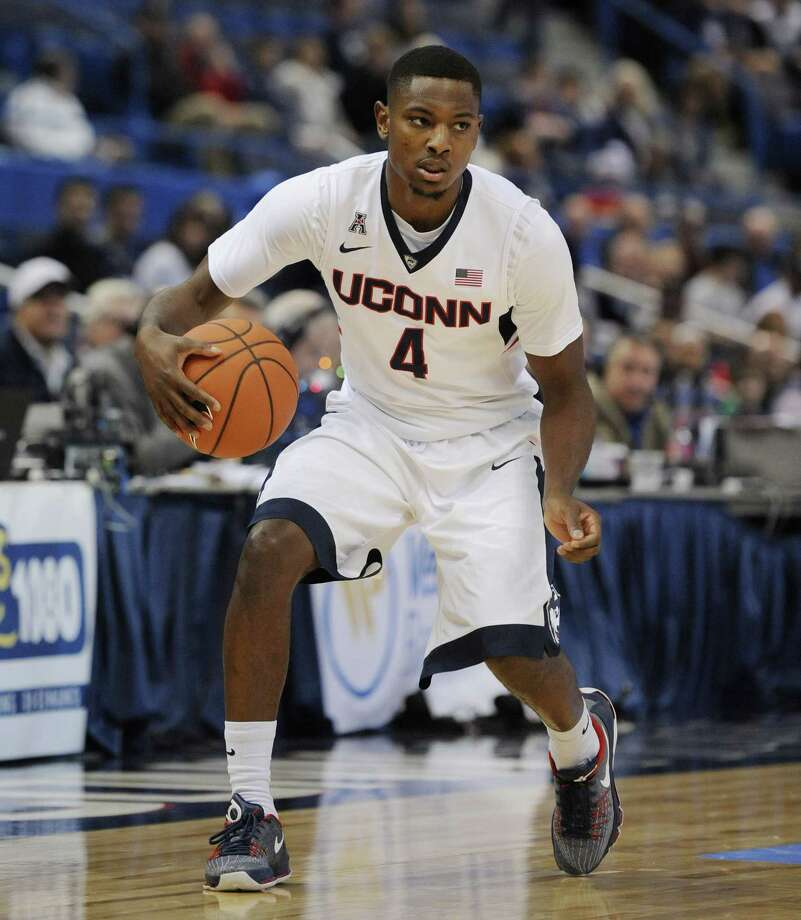 Sterling Gibbs will be facing the team he played for as a freshman when UConn faces Texas on Tuesday. Photo: Jessica Hill — The Associated Press  / FR125654 AP