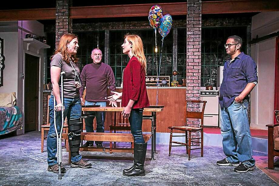 """Contributed photo A scene from """"Time Stands Still"""" at TheatreWorks New Milford. Photo: Journal Register Co."""