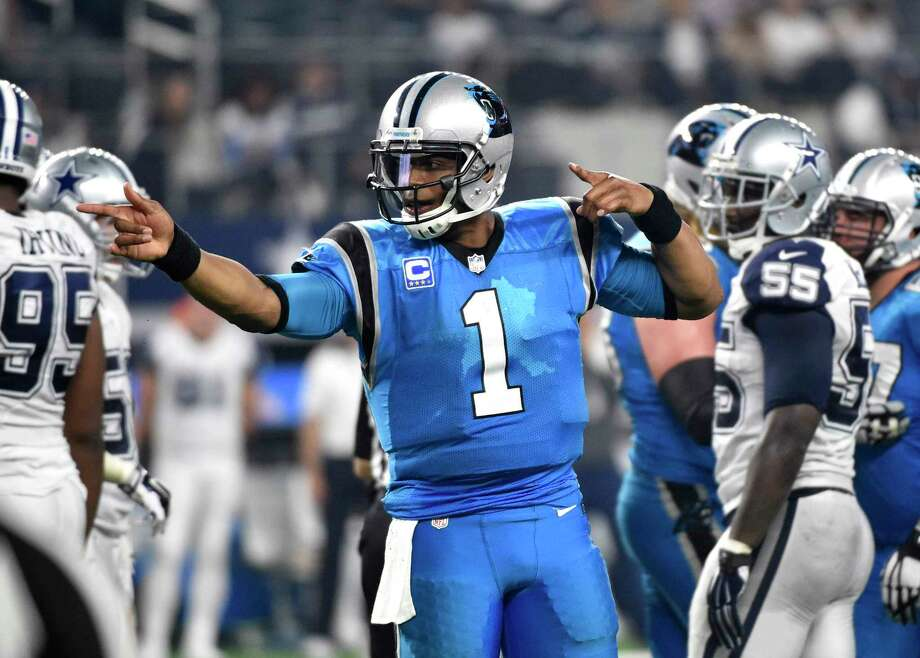 The Register's Dan Nowak likes Cam Newton and the Panthers to take care of business against the Falcons today in Atlanta. Photo: The Associated Press File Photo  / FR171389 AP