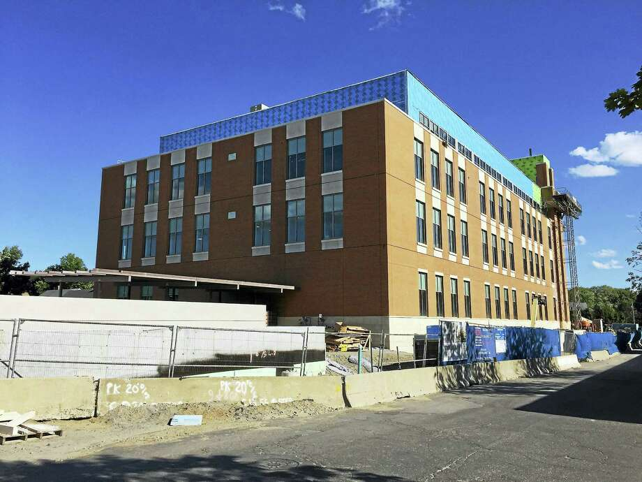 The Litchfield Judicial Courthouse, currently under construction on Field Street in Torrington, as seen Tuesday. Photo: Ben Lambert — The Register Citizen
