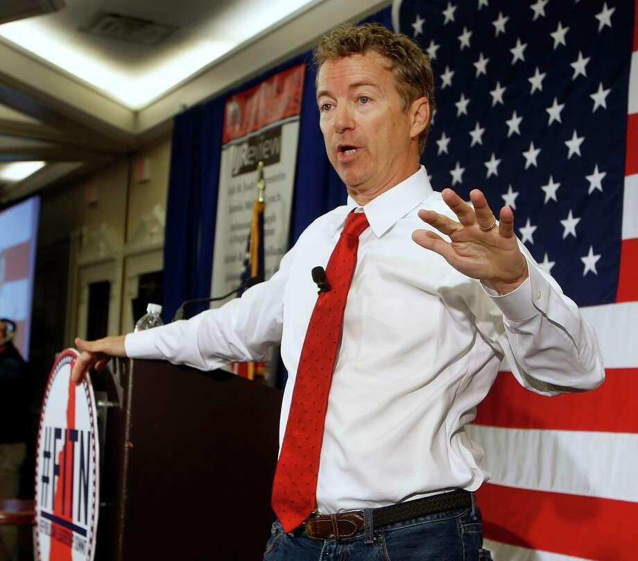 U.S. Sen. Rand Paul of Kentucky. Photo: AP / AP