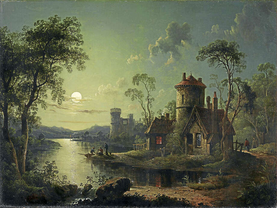"""""""Moonlight River Scene"""" by Sebastian Pether Photo: YCBA  / Yale Center for British Art"""