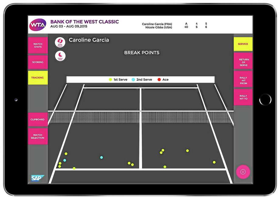 iPads are making their way onto the sidelines of WTA events. Photo: Photo Courtesy Of SAP
