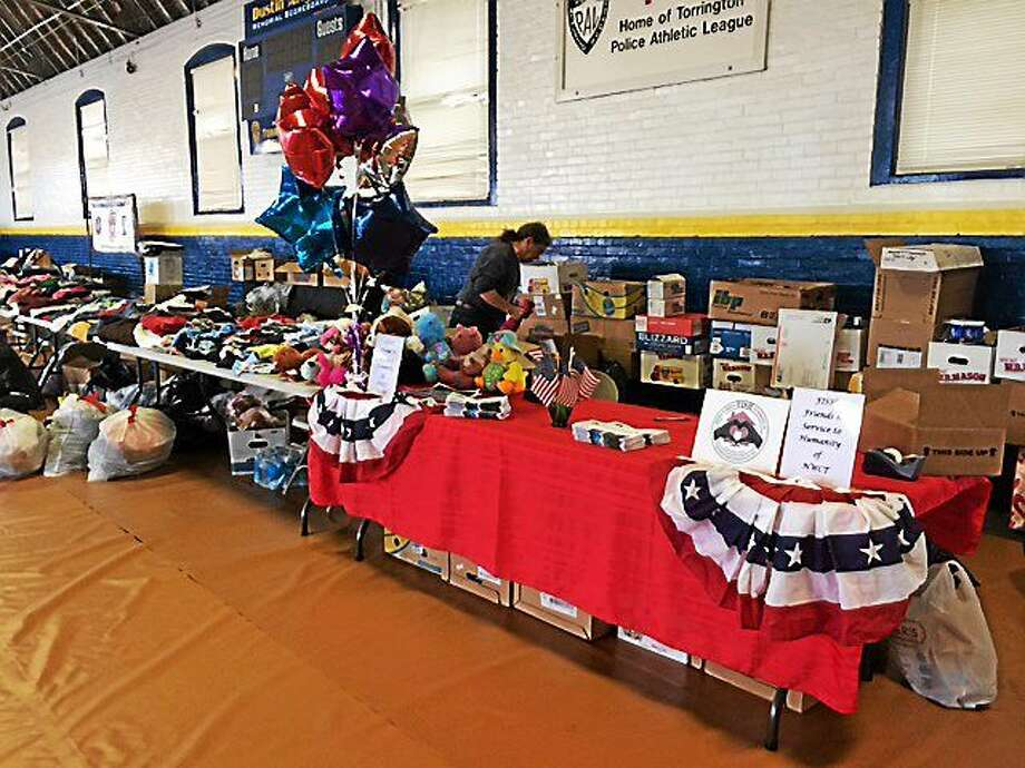 The FISH table offered veterans clothing and personal care items during the Veterans Stand Down event on Wednesday. Photo: Contributed Photo