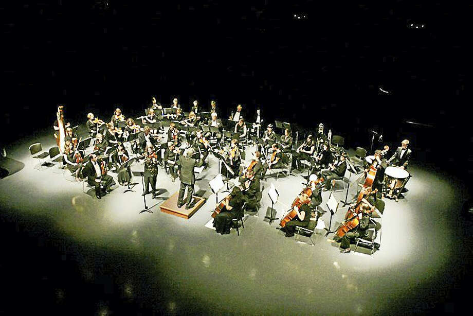 Photo courtesy of the Torrington Symphony OrchestraA view of the orchestra inside the Nancy Marine Studio Theater at the Warner Theatre in Torrington. Photo: Journal Register Co.