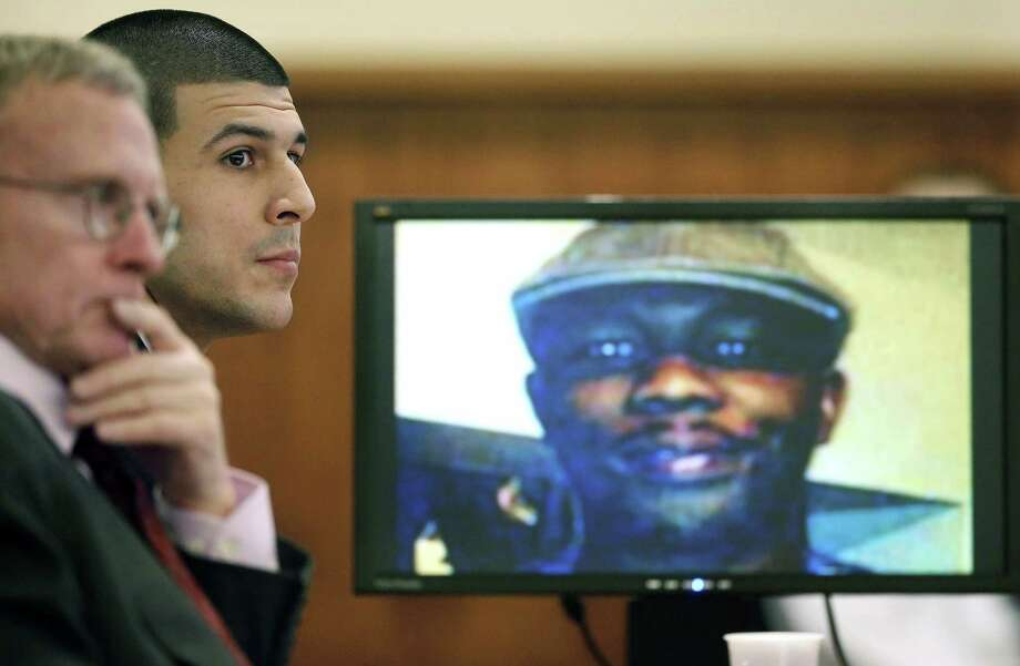 Odin Lloyd's mother, Ursula Ward, said Wednesday she is is moving forward with a civil lawsuit against Aaron Hernandez. Photo: Steven Senne — The Associated Press File Photo  / Pool AP