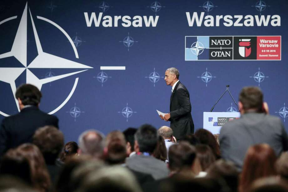 United States President Barack Obama leaves after a news conference at the NATO summit in Warsaw, Poland, July 9. Photo: The Associated Press  / AP