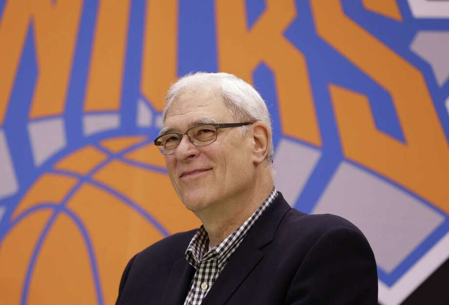 New York Knicks president Phil Jackson held his end-of-season meeting with reporters on Tuesday after the Knicks finished a franchise-worst 17-65 in his first year in charge. Photo: Seth Wenig — The Associated Press File Photo  / AP