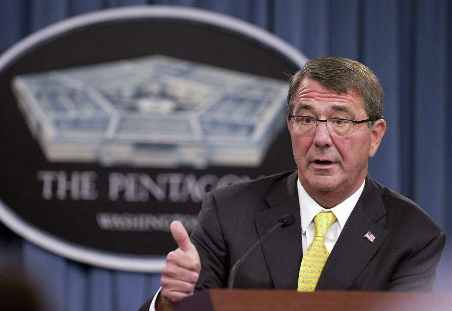 "In this Aug. 20, 2015, file photo, Defense Secretary Ash Carter speaks during a news conference at the Pentagon. New Defense Department guidelines allow commanders to punish journalists and treat them as ""unprivileged belligerents"" if they believe journalists are sympathizing or cooperating with the enemy. Photo: AP Photo/Manuel Balce Ceneta, File   / AP"